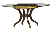 218G/R Round Glass Top Dining Table