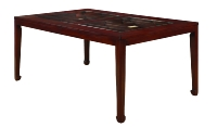 2285G Glass Top Dining Table