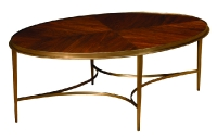 295W Oval Cocktail Table