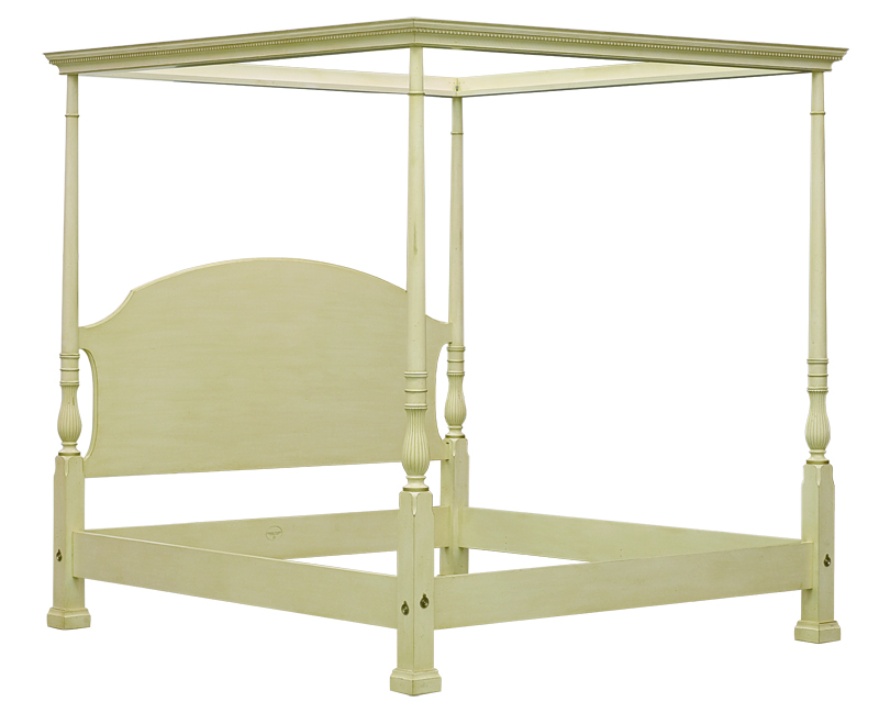 Bedroom category beds image 309cf canopy frame henkel harris america 39 s finest furniture - Canopy bed without frame ...