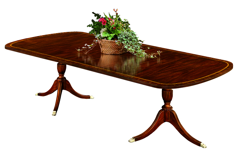 2207 Double Pedestal Dining Table