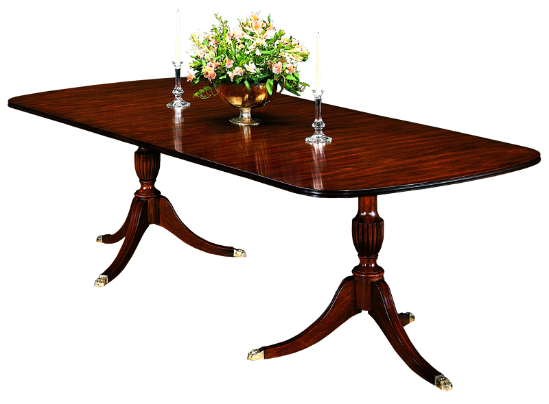 2208 Double Pedestal Dining Table